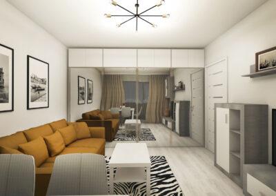 Apartament Exigent Plaza Residence – amenajare interioară